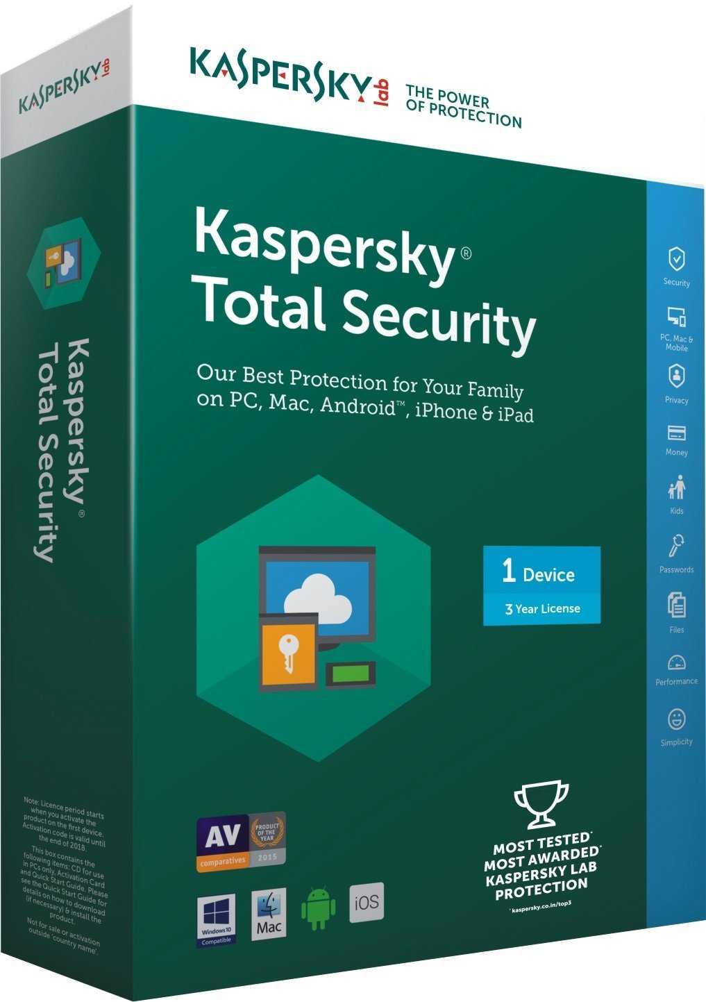 Kaspersky Total Security 2019 license key with keygen for free